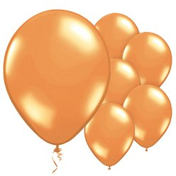 "Orange Balloons - 11"" Metallic Latex"