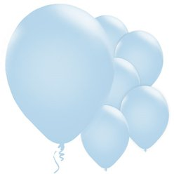 "Powder Blue Balloons - 11"" Pearl Latex"