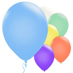 "Assorted Colours Balloons - 11"" Pearl Latex"