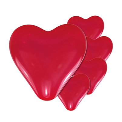 "Mini Red Heart Balloons - 8"" Latex"