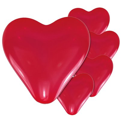 "Red Heart Balloons - 11"" Latex"