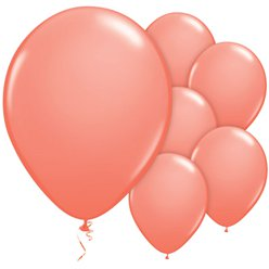 "Coral Balloons - 11"" Latex"