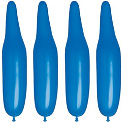 Plain Dark Blue Modelling Balloons - 321Q Latex