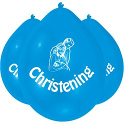 Christening Blue Balloons - 9'' Latex