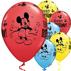 Mickey Mouse Balloons - 11'' Latex