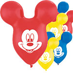 "Mickey Mouse Ear Balloons - 15"" Latex"