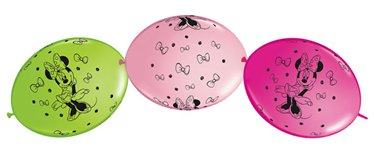 "Minnie Mouse Quicklink Balloons - 12"" Latex"
