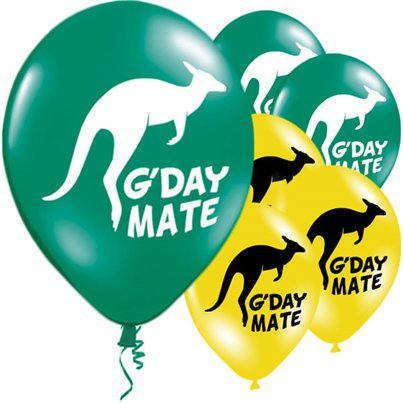 "Australian G'Day Mate Balloon - 11"" Latex"