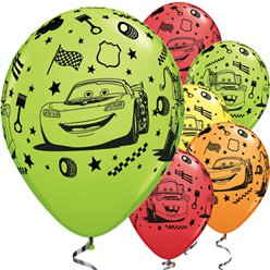 "Disney Cars Balloons - 11"" Latex"