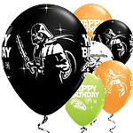 "Star Wars Happy Birthday Balloons - 11"" Latex - 25 pack"
