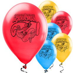 Spider-Man Balloons - 11'' Latex
