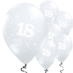 18th Birthday Diamond Clear Balloons - 11'' Latex