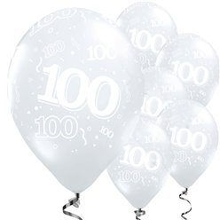 100th Birthday Diamond Clear Balloons - 11'' Latex
