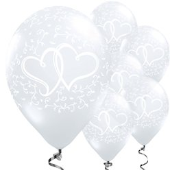 "Entwined Hearts Diamond Clear Balloons - 11"" Latex"