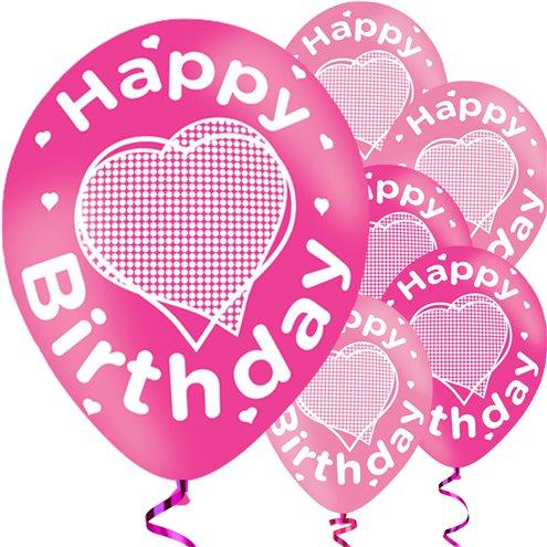 Happy Birthday Pink Balloons