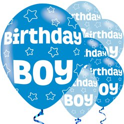 Birthday Boy Balloons - 11'' Latex