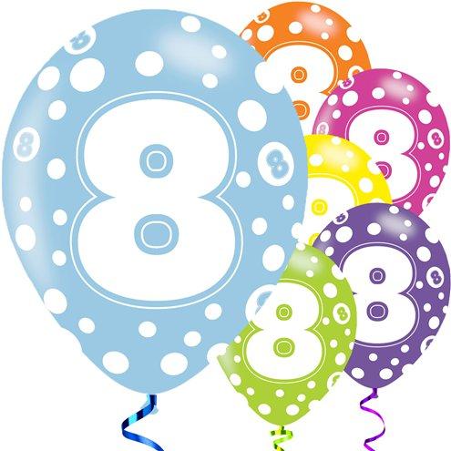 8th Birthday Assorted Balloons