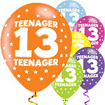 "Teenager Assorted Balloons - 11"" Latex"