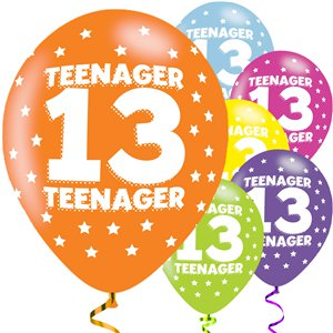 Teenager Assorted Balloons - 11'' Latex