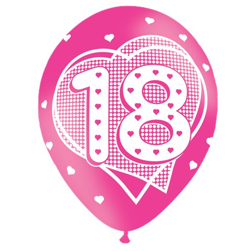 18th Birthday Pink Balloons