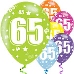 65th Birthday Assorted Balloons