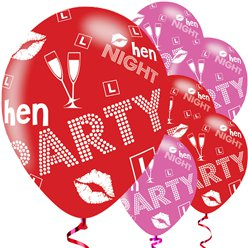 Hen Party Balloons - 11'' Latex