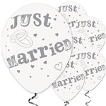 Just Married Balloons - 11'' Latex
