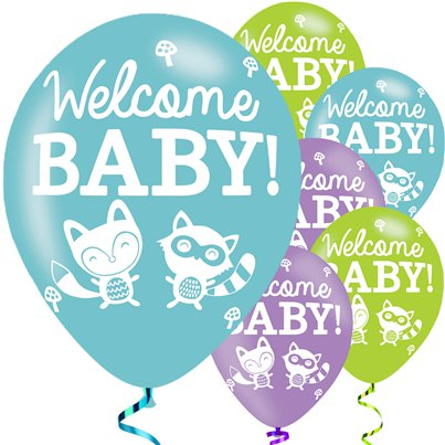 "Woodland Baby Balloons - 11"" Latex"