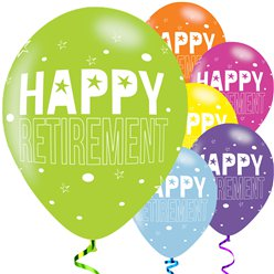 "Retirement Balloons - 11"" Latex"