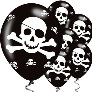 Pirate Skull & Crossbones Balloons - 11
