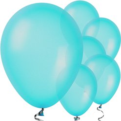 "Turquoise Balloons - 11"" Pearlised Latex"