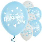 "Blue Christening Day Latex Balloons - 11"" Latex"