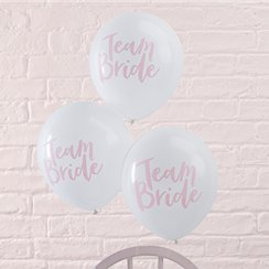 "'Team Bride' Hen Party Balloons - 12"" Latex"