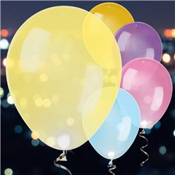 LED Latex Balloons Assorted Colours - 11""