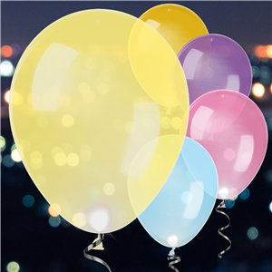 LED Latex Balloons Assorted Colours - 11
