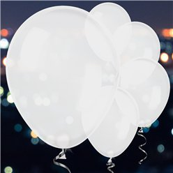 White Latex LED Balloons - 11""