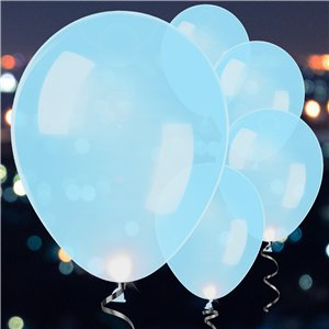 Blue Latex LED Balloons - 11