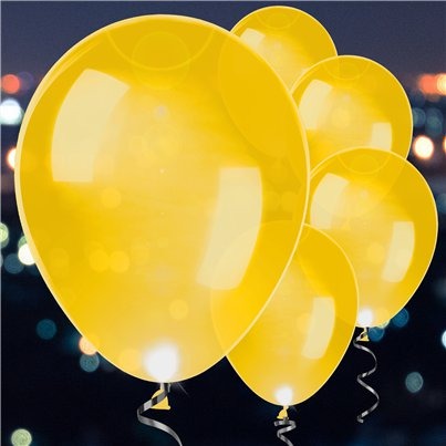 Gold Latex LED Balloons - 11""