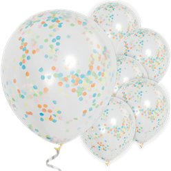 "Multi Coloured Confetti Balloons - 12"" Latex"