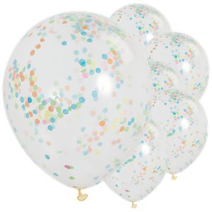 Multi Coloured Confetti Balloons - 12