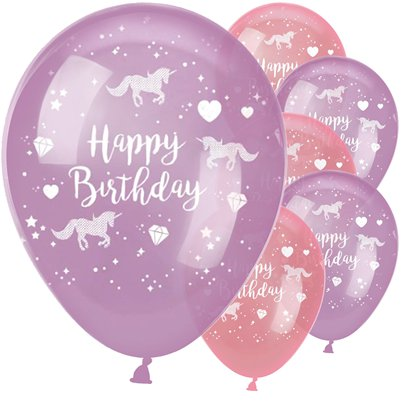 "Unicorn Sparkle Balloons - 11"" Latex"