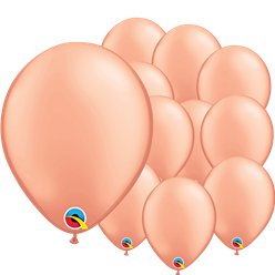 "Rose Gold Balloons - 5"" Latex"