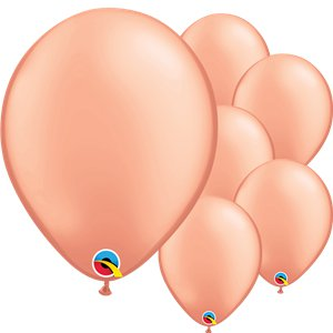 Rose Gold Latex Balloons - 11