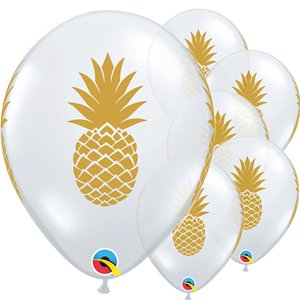 Golden Pineapple Diamond Clear Balloon - 11