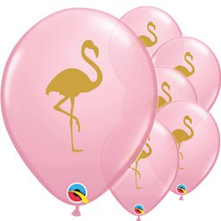 "Pink Flamingo Balloons - 11"" Latex"