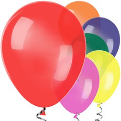 "Assorted Colour Balloons - 12"" Latex"