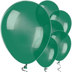 "Forest Green Balloon - 12"" Latex"