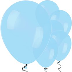 "Pastel Blue Balloons - 12"" Latex"