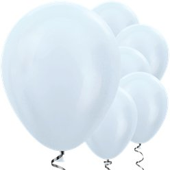 "Satin White Balloons - 12"" Latex"