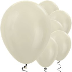 "Satin Ivory Balloons - 12"" Latex"
